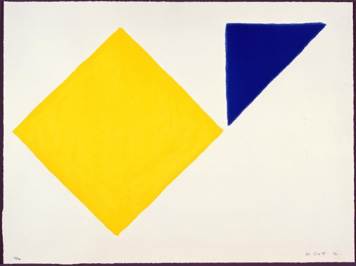 Yellow Square plus Quarter Blue