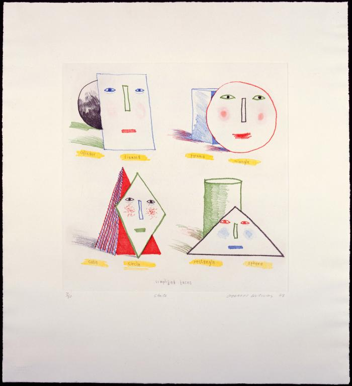 Simplified Faces I (1973)